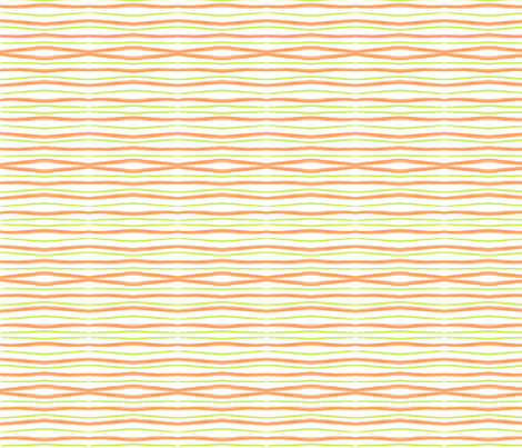 darker_orange_and_green_stripe fabric by suemc on Spoonflower - custom fabric