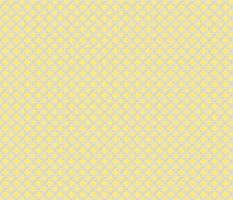 Trellis Buttercup fabric by lulabelle on Spoonflower - custom fabric