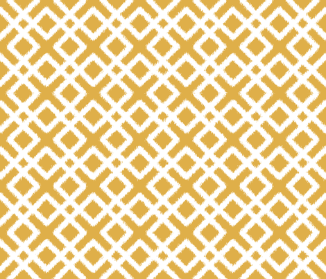 Weave Ikat in Gold fabric by fridabarlow on Spoonflower - custom fabric