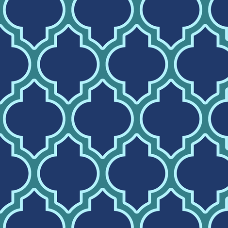 moroccan quatrefoil lattice in peacock fabric by spacefem on Spoonflower - custom fabric