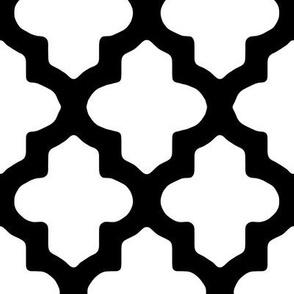 Moroccan Quatrefoil Modern Black & White