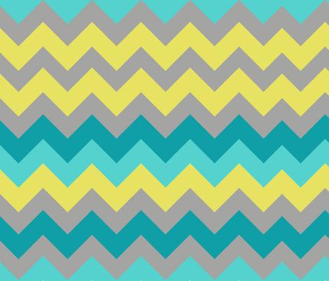 Ocean Chevron fabric by bluenini on Spoonflower - custom fabric