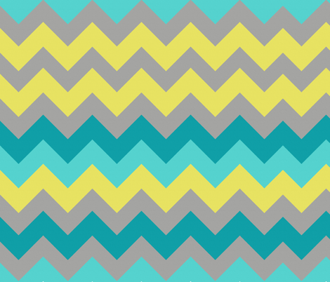 Ocean Chevron fabric by bluenini on Spoonflower - custom fabric