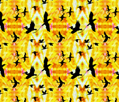 Sunset_over_the_ocean fabric by house_of_heasman on Spoonflower - custom fabric