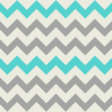 Aqua Grey Chevron fabric by bluenini on Spoonflower - custom fabric