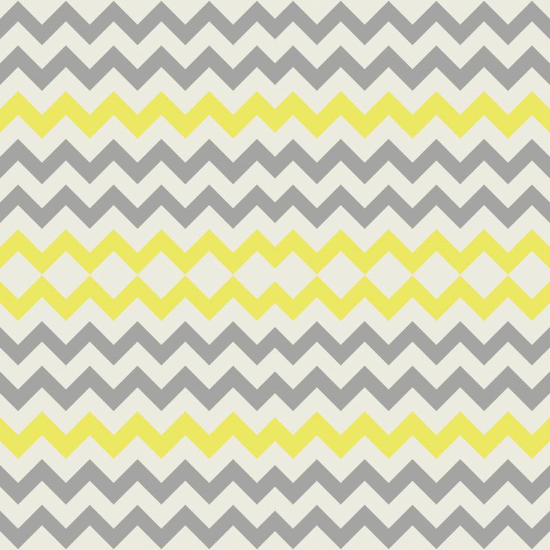 Yellow Grey Chevron wallpaper - bluenini - Spoonflower