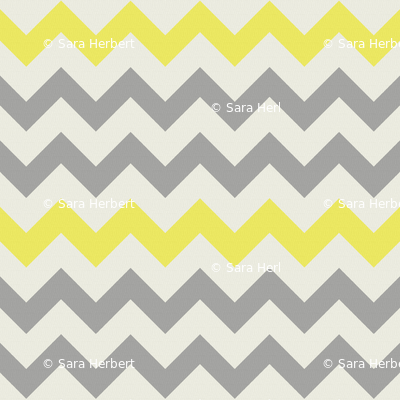 Yellow Grey Chevron