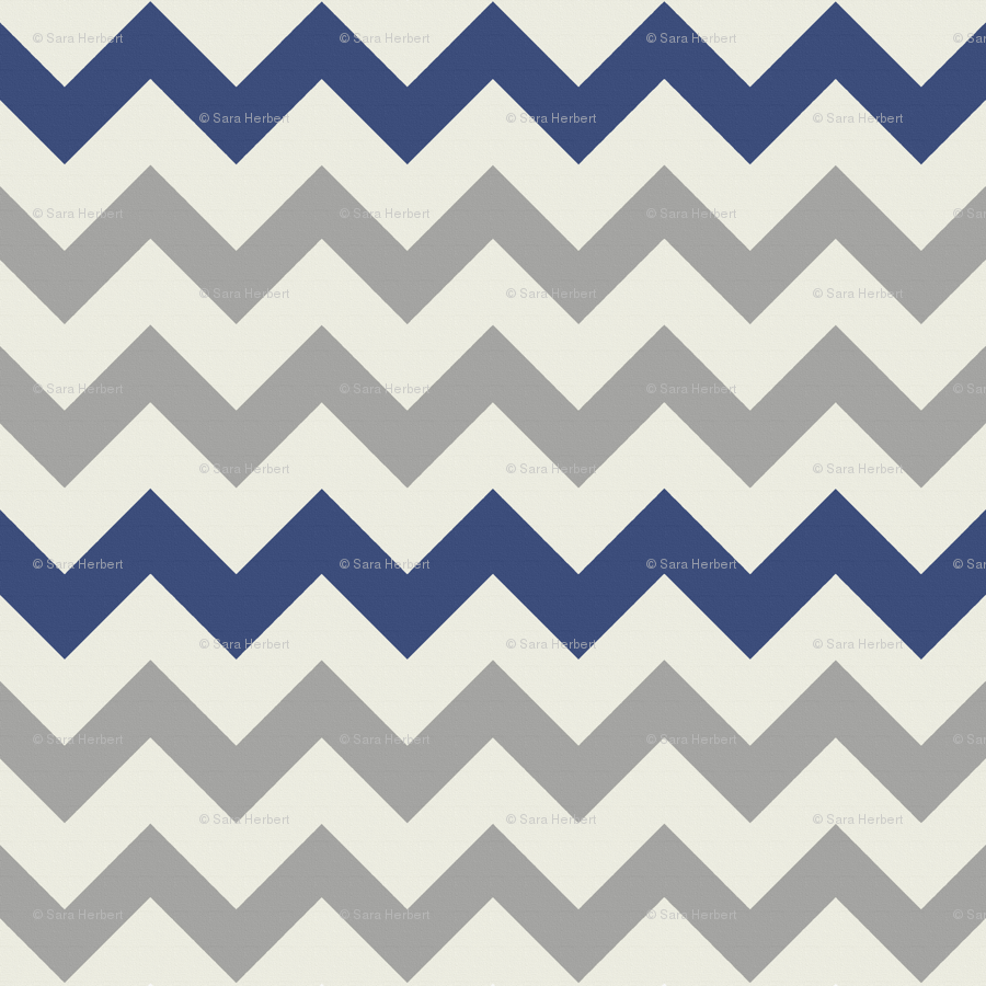- Grey Navy Large Chevron Wallpaper - Bluenini - Spoonflower