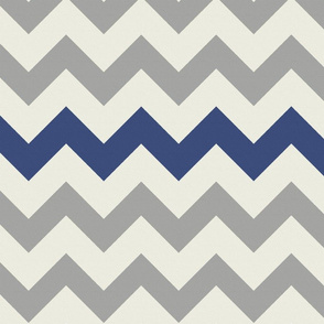 Grey Navy Large Chevron