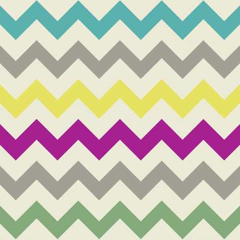 Summer Chevron fabric by bluenini on Spoonflower - custom fabric