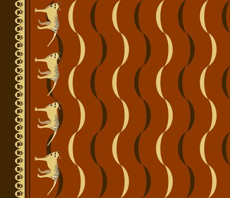 A VERY SAD TAIL fabric by pavlovais on Spoonflower - custom fabric