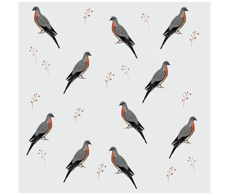 pigeon5 fabric by expellhun on Spoonflower - custom fabric