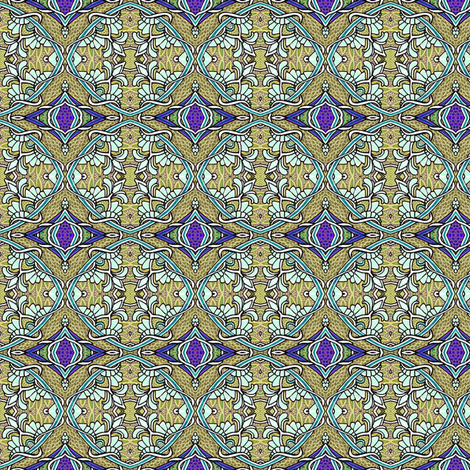 Royal Lizard Scale Orbs fabric by edsel2084 on Spoonflower - custom fabric