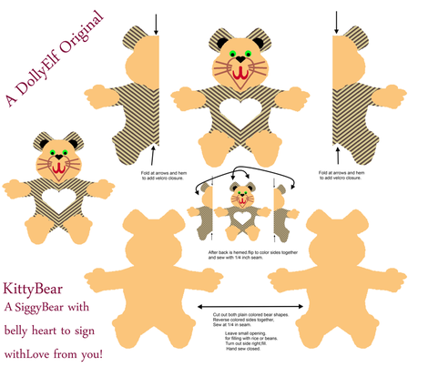 KittybearWarmablePad-FQ fabric by grannynan on Spoonflower - custom fabric