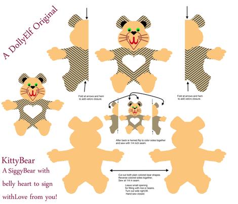 KittybearWarmablePad-Yard fabric by grannynan on Spoonflower - custom fabric