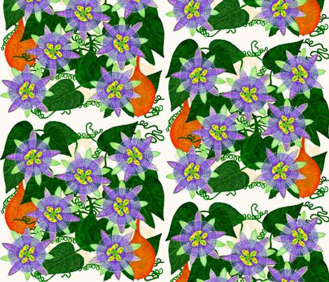 Passiflora ligularis fabric by joancaronil on Spoonflower - custom fabric