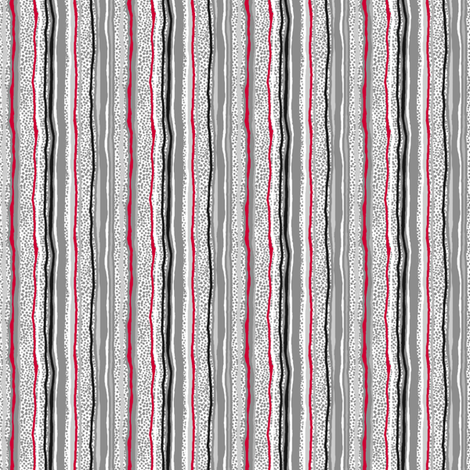 Vertical Stripes Over Little Grey Dots With BLACK fabric by tallulahdahling on Spoonflower - custom fabric