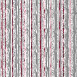Vertical Stripes Over Little Grey Dots - No Black