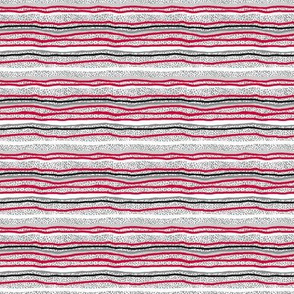 Horizontal Stripes Over Little Grey Dots