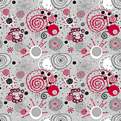 Happy Dance_4X4inch_SMALL fabric by tallulahdahling on Spoonflower - custom fabric