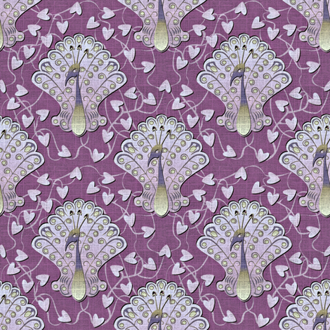 Gilded Peacock - Lavish Lilac fabric by glimmericks on Spoonflower - custom fabric