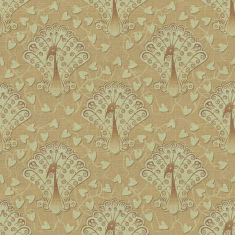 Gilded Peacock - Sublime fabric by glimmericks on Spoonflower - custom fabric