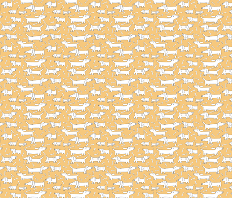 JoBrown Sausage Dogs fabric by happytomato on Spoonflower - custom fabric