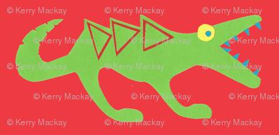 crocosaur raar red