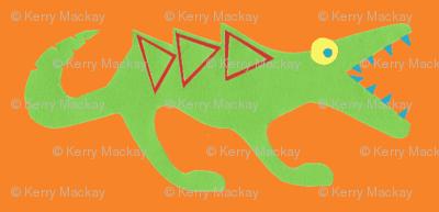 crocosaur raar orange
