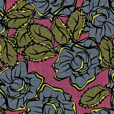 50s_Floral - Atlanta Sweethearts fabric by glimmericks on Spoonflower - custom fabric