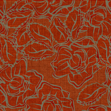 50s_Floral_Chicago Dolls fabric by glimmericks on Spoonflower - custom fabric