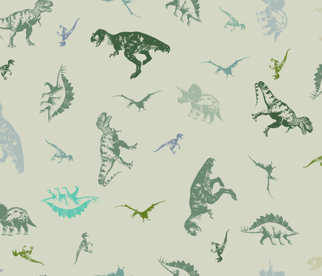Dinosaur Grafitti fabric by candyjoyce on Spoonflower - custom fabric