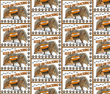 tracking bloodhound fabric fabric by dogdaze_ on Spoonflower - custom fabric