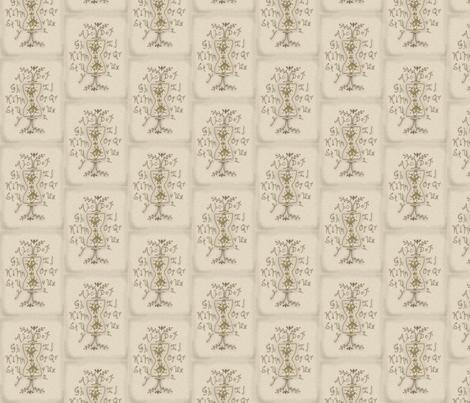 Colonial Sampler Tan fabric by robin006 on Spoonflower - custom fabric