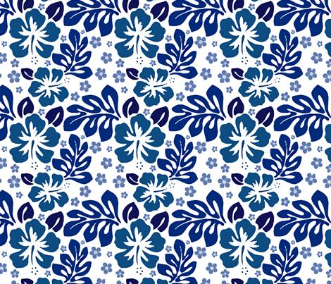 Island Swim blue fabric by flyingfish on Spoonflower - custom fabric