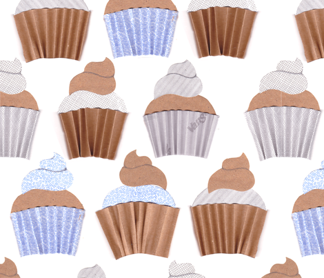 Cupcakes for the Postman fabric by dna2011 on Spoonflower - custom fabric