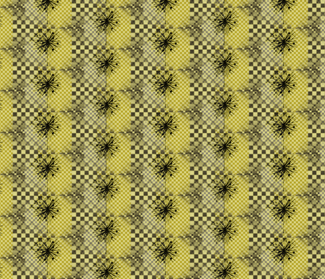 Goldenrod Gingham Check For Home Ec fabric by donna_kallner on Spoonflower - custom fabric
