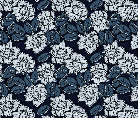 50s_Floral - Anchorage Angels fabric by glimmericks on Spoonflower - custom fabric