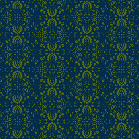 Olive Medallions fabric by flyingfish on Spoonflower - custom fabric