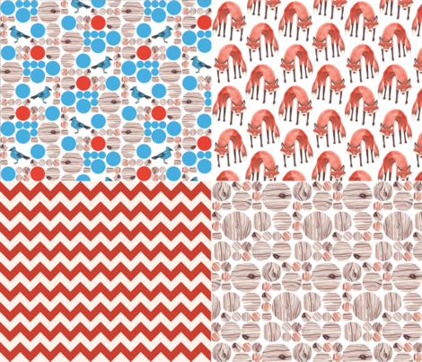 Quick Red Fox Quilter's Assortment 2 fabric by nightgarden on Spoonflower - custom fabric