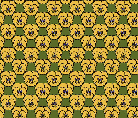 Pansy_yellow fabric by adranre on Spoonflower - custom fabric
