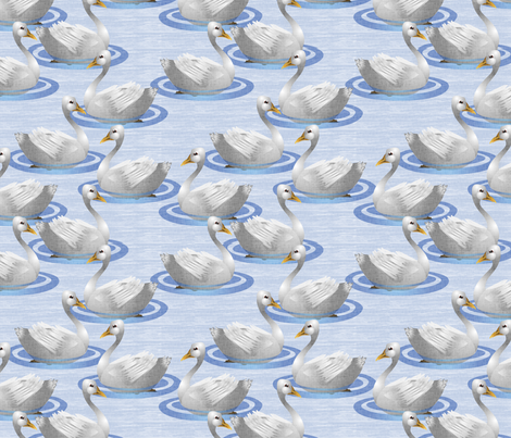 White Geese fabric by glimmericks on Spoonflower - custom fabric