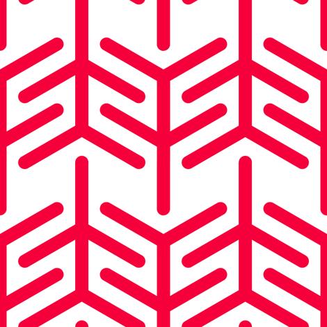 Concertina (Red +) fabric by nekineko on Spoonflower - custom fabric