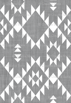 Navajo - Texture Gray White (vertical)