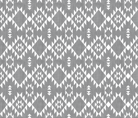 Navajo - Texture Gray White (vertical) fabric by kimsa on Spoonflower - custom fabric