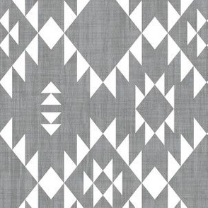 Navajo - Texture Gray White (vertical)