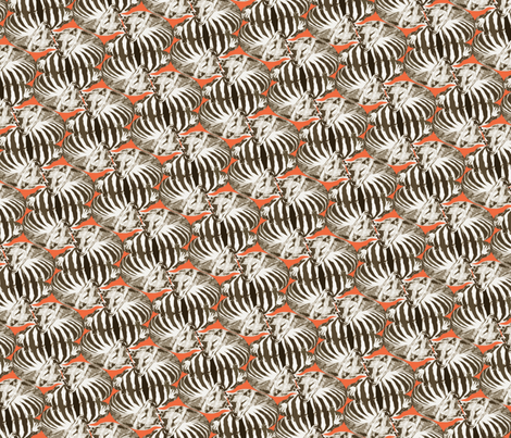 thylacine dreaming fabric by bippidiiboppidii on Spoonflower - custom fabric