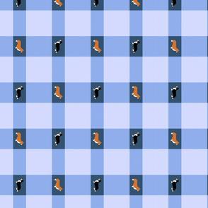 Basic Corgi Plaid - blue
