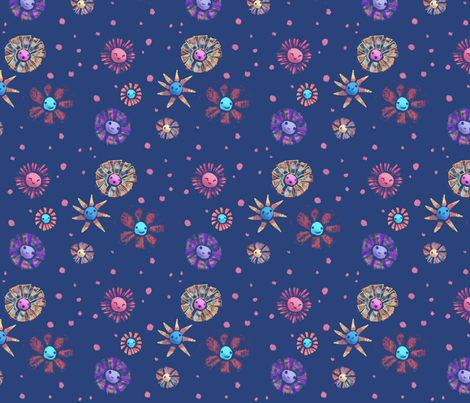 Happy bursts fabric by risu_rose on Spoonflower - custom fabric