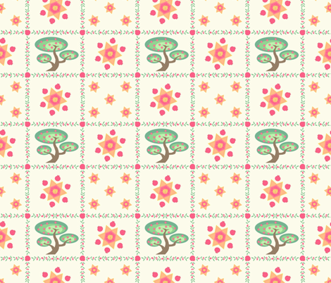 Pomegranate_Pattern fabric by walkathon on Spoonflower - custom fabric